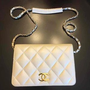 Cream quilted crossbody